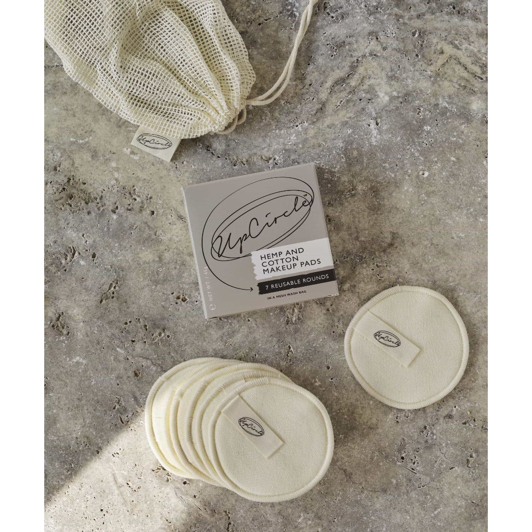 UpCircle Hemp and Cotton Make Up Pads - Scandi Minimal