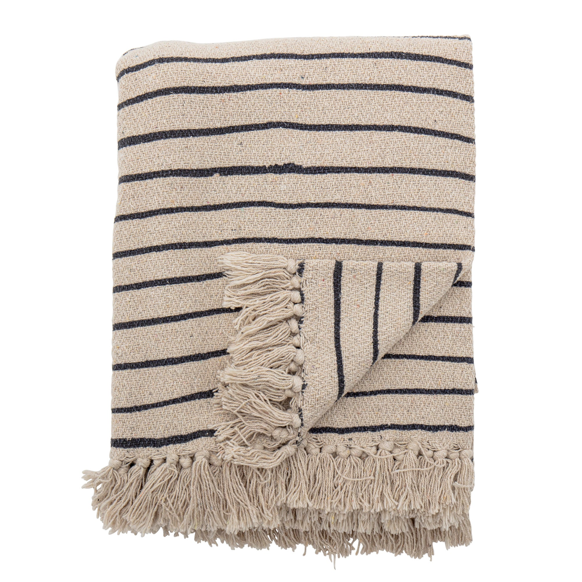 Bloomingville Eia Recycled Throw Stripes