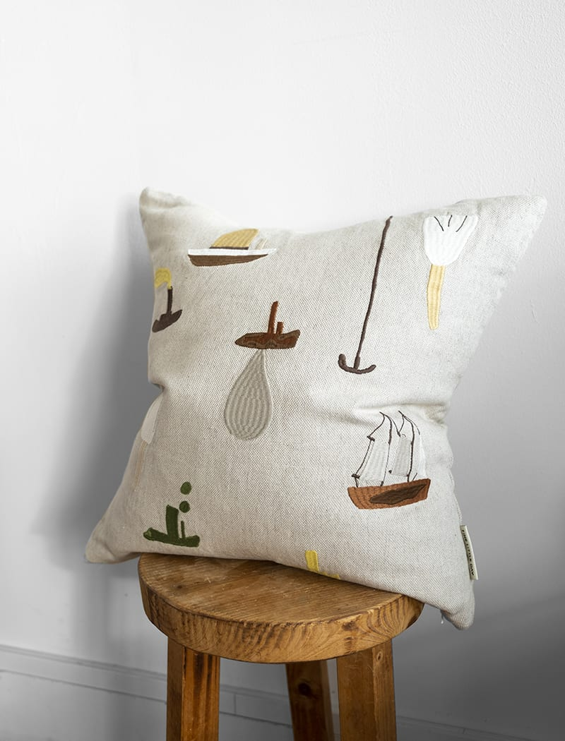 Fine Little Day Swimmers Sail With Me Cushion Cover - Scandi Minimal
