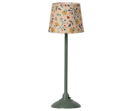 Maileg Minature Floor Lamp in Dark Mint - Scandi Minimal