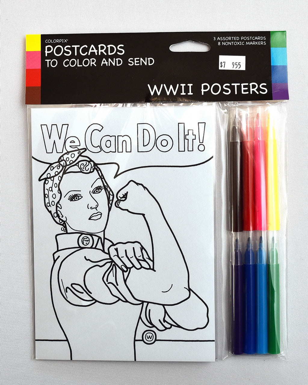 Rosie the Riveter Coloring Postcards