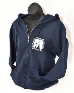 Hooded Zip Front Sweatshirt - National Warplane Museum