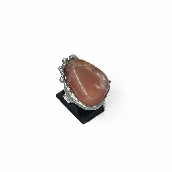 Pink moonstone ring