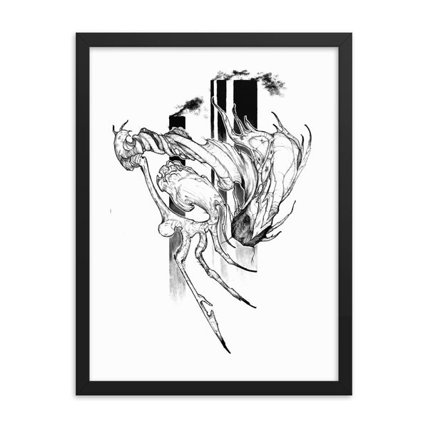 Chaotic Mutation I - Framed poster