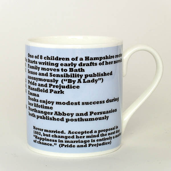 Jane Austen mug by Cole of London