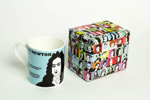 Cole of London wrapping paper and Newton mug