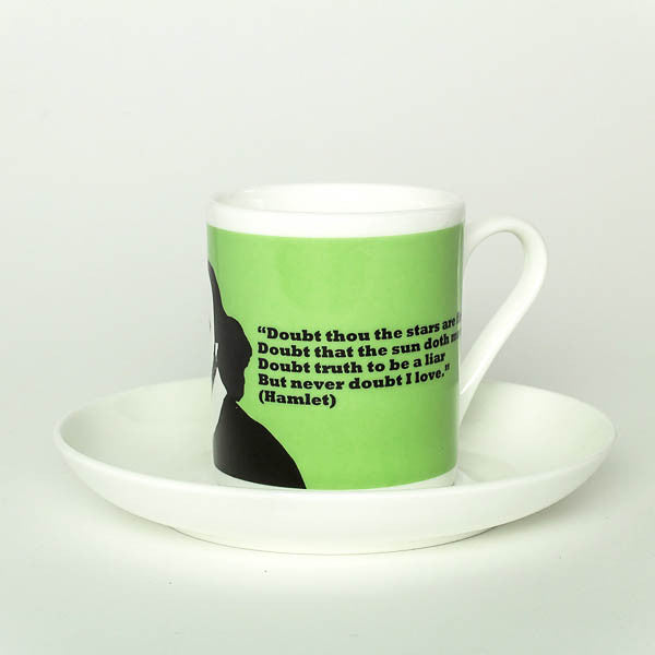 William Shakespeare espresso cup by Cole of London