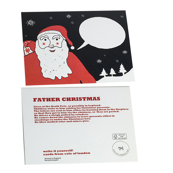 Cole of London Father Christmas card