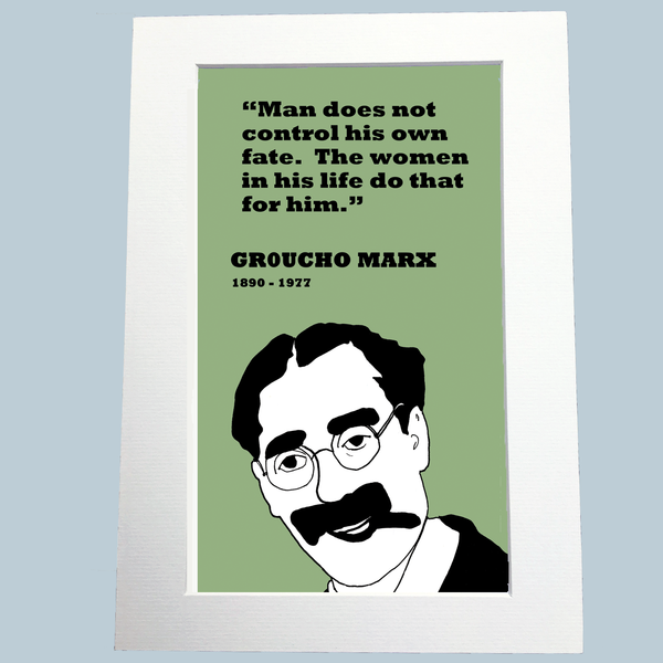 Groucho Marx Print (on fate)