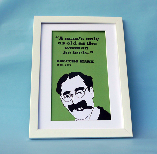 Groucho Marx Print (on old age)