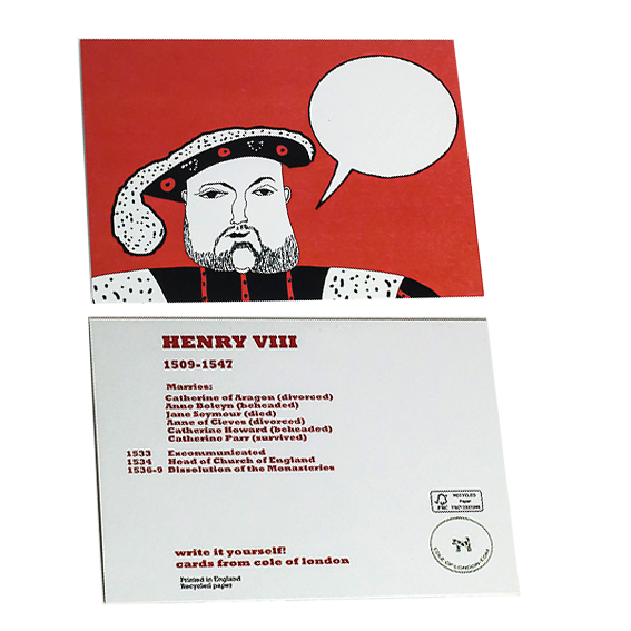 Cole of London Henry VIII card