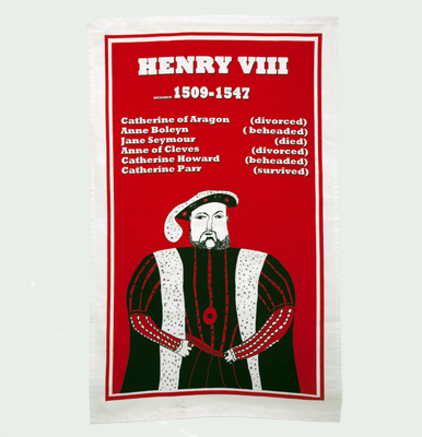 Henry VIII tea towel by Cole of London