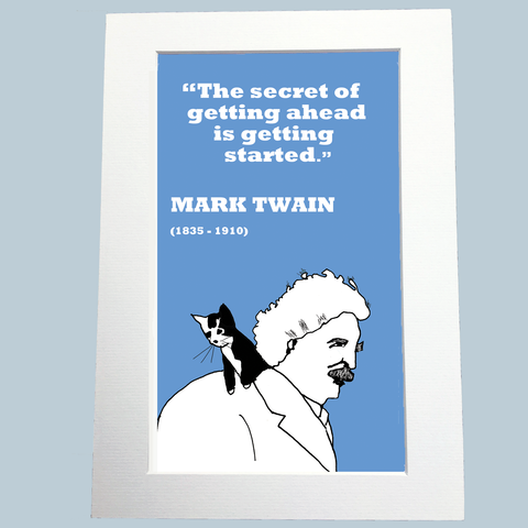 Mark Twain Print (on getting started)
