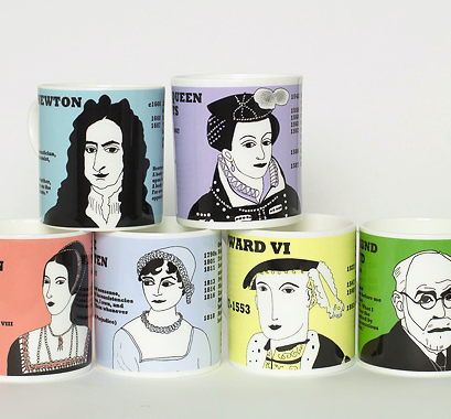 Boxed set of 6 mugs by Cole of London