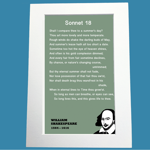 William Shakespeare Print: Sonnet 18