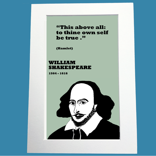William Shakespeare Print on truth