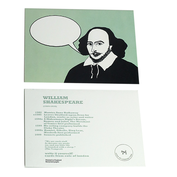 Cole of London Shakespeare card