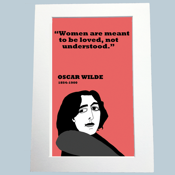 Oscar Wilde Print (on women)