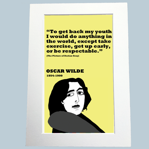 Oscar Wilde Print On Youth