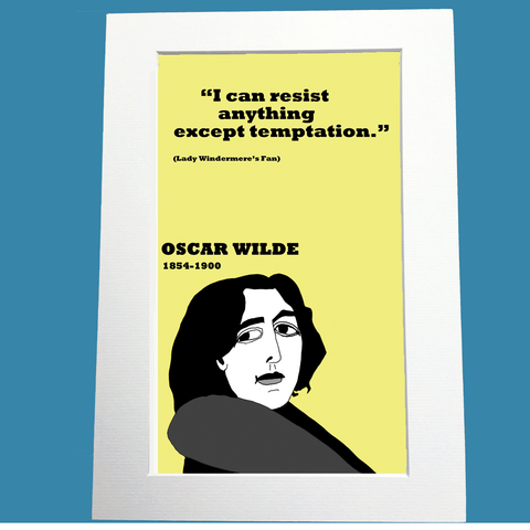 Oscar Wilde Print On Temptation