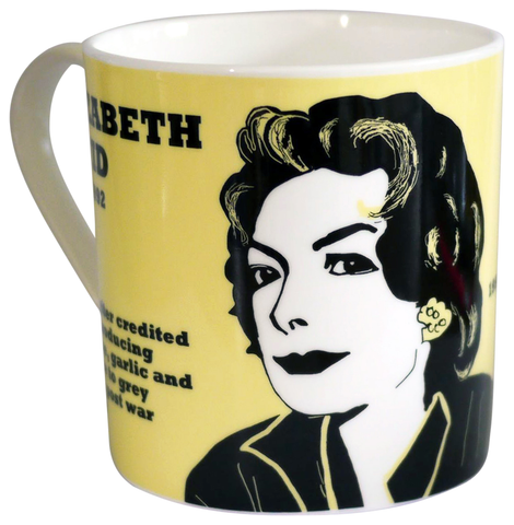 Elizabeth David mug - large size