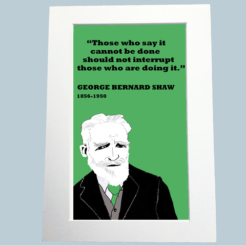 George Bernard Shaw Print (doing it)