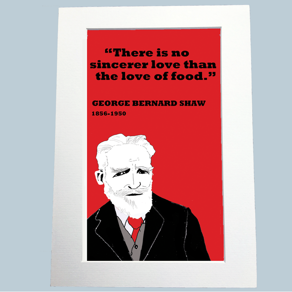 George Bernard Shaw Print (food)