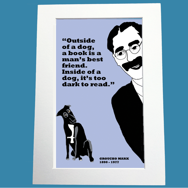 Groucho Marx Print (on dogs)