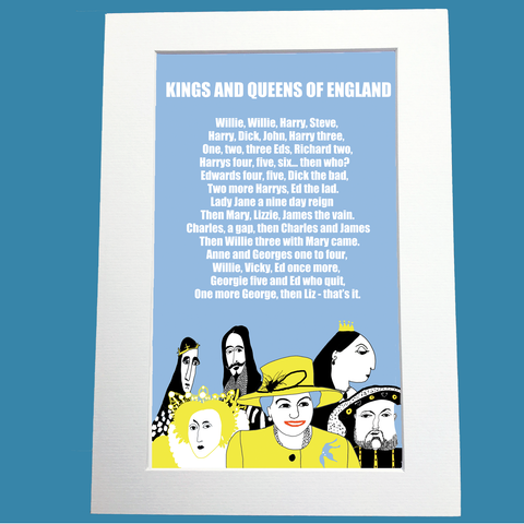 Kings and Queens of England Print