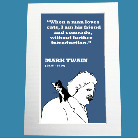 Mark Twain Print (on cats)