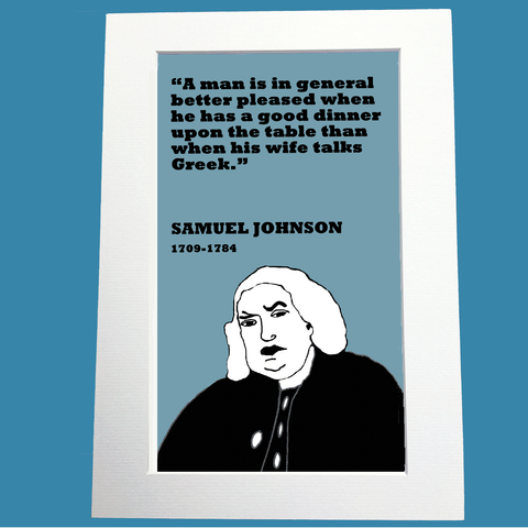 Samuel Johnson Print (Greek talking wife)