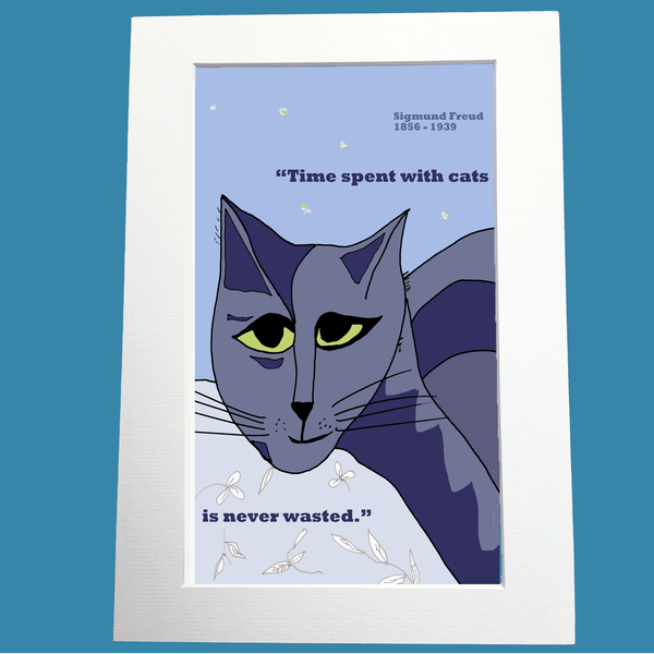 Sigmund Freud Print on cats
