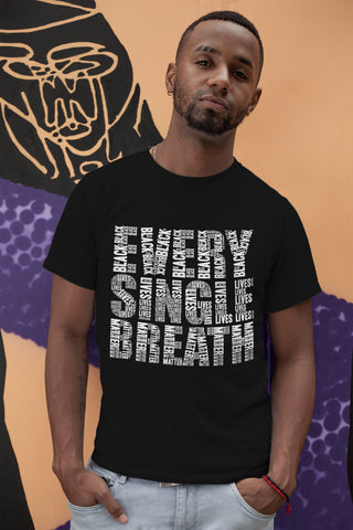 Every Single Breath Black Lives Matter Black Tee
