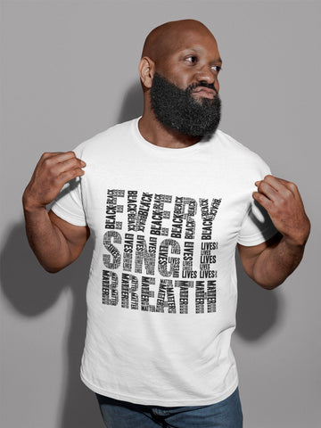 Every Single Breath Black Lives Matter White Tee