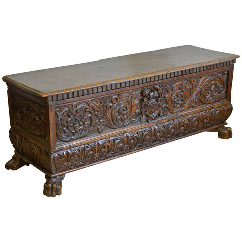 16th Century North Italian Walnut Cassone