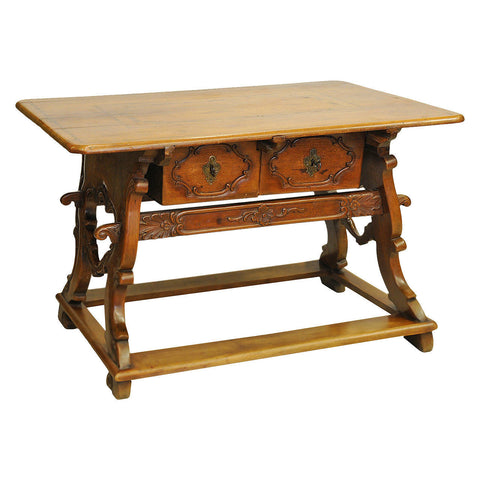 Fruitwood writing table, Swiss, 18th century