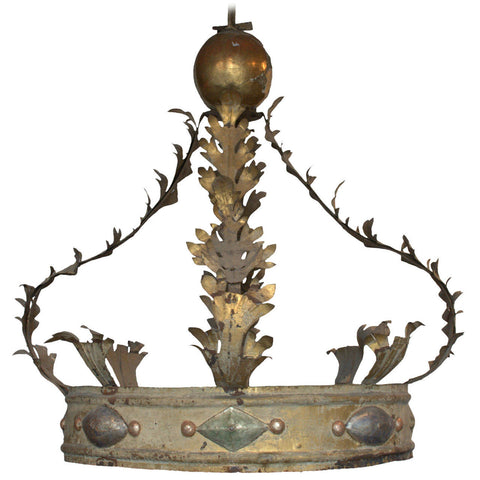 Large metal and giltwood corona / baldaquin, Italian, mid 18th century