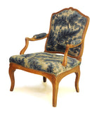 Louis XV style beechwood fauteuil (armchair) with needlework covers, French, 19th century, armchair - Kate Thurlow | Gallery Forty One