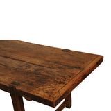 Beech and oak farm table with thick top, Normandy late 18th century