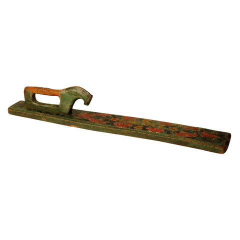 Scandinavian painted mangle board, dated 1847