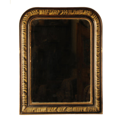 Painted marbelised mirror, French 19th century