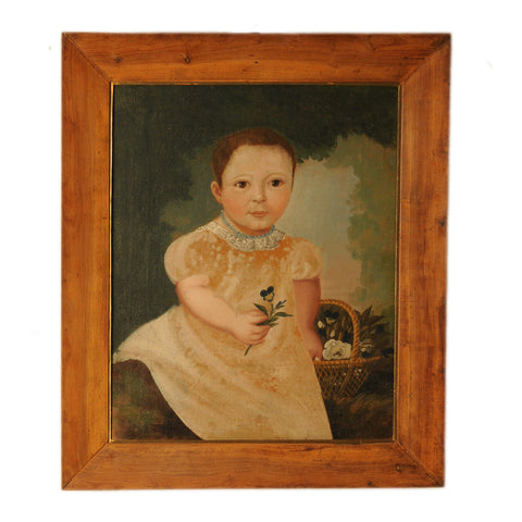 Naive portrait of a boy, French early 19th century