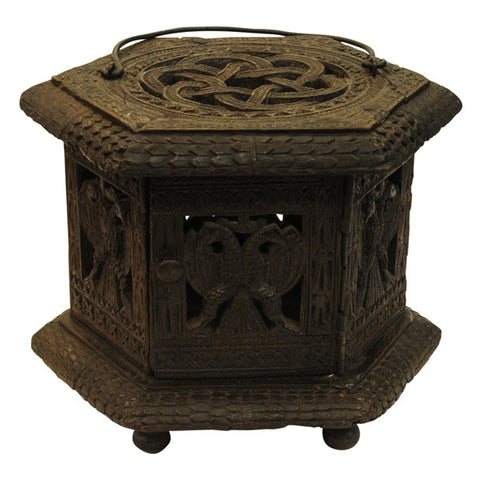 Dutch oak foot warmer (stoof), Friesland, circa 1770