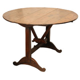French oak tilt top vigneron / wine tasting table, circa 1800, Table - Kate Thurlow | Gallery Forty One