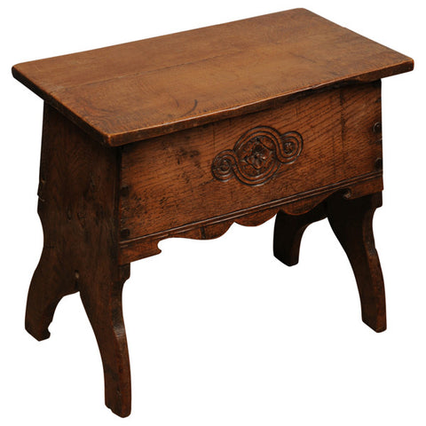 Oak box stool, English Arts and Crafts, early 20th century