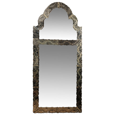 Venetian pier mirror, Italy, early 20th century