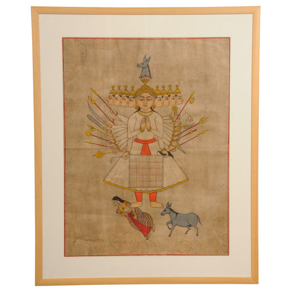 Indian mystical watercolour, 19th century, Paintings, prints and photographs - Kate Thurlow | Gallery Forty One
