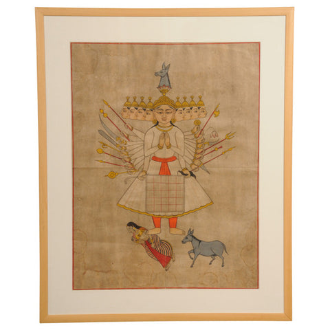 Indian mystical watercolour, 19th century