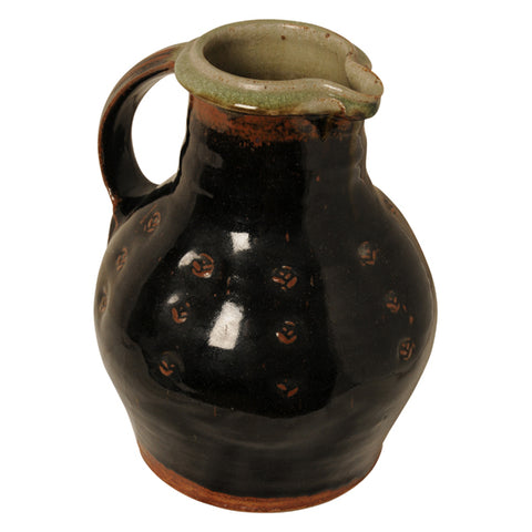 Tenmoku glazed jug/pitcher, Phil Rogers, Welsh born 1951