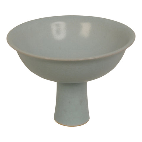 Small celadon stem cup, Poh Chap Yeap, British studio potter,  born 1927